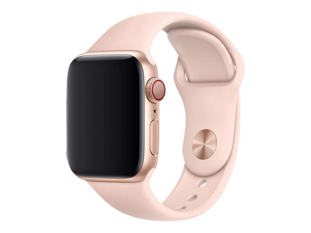 40mm sport band uhrarmband 130 200 mm rosa sandfarben fuer watch 38 mm 40 mm 10094384 mtp72zm a