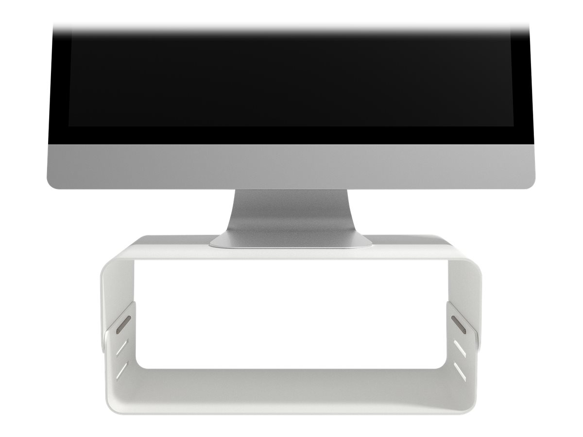 Addit bento monitor riser adjustable 120 aufstellung fuer lcd display pulverbeschichteter stahl weiss schreibtisch 8522602 45 120