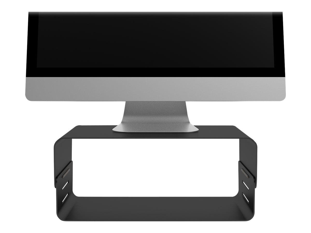 Addit bento monitor riser adjustable 123 aufstellung fuer lcd display pulverbeschichteter stahl schwarz schreibtisch 8476242 45 123