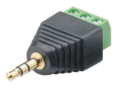 audio stecker mini phone stereo 3 5 mm m bis 3 poliger anschlussblock schraubbar packung mit. Black Bedroom Furniture Sets. Home Design Ideas