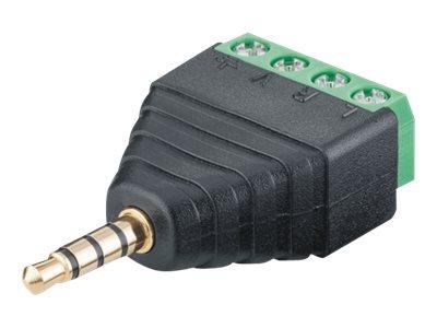 audio stecker mini phone stereo 3 5 mm m bis 4 poliger anschlussblock schraubbar packung mit. Black Bedroom Furniture Sets. Home Design Ideas
