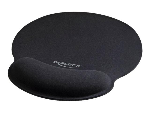 Delock ergonomic mauspad schwarz 10988947 12559