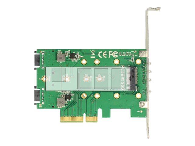 Delock pci express card 3 x m 2 slot speicher controller m 2 m 2 card sata 6gb s low profile pcie 3 0 x4 7401029 89518