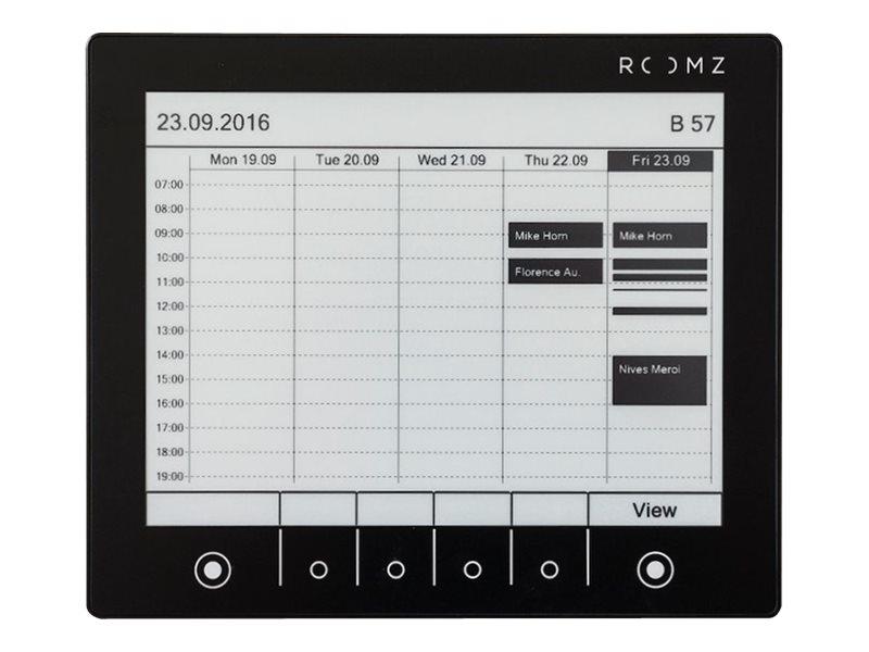 Display raummanager kabellos wi fi nfc 2 4 ghz schwarz 12410344 roomz display 002 b bas