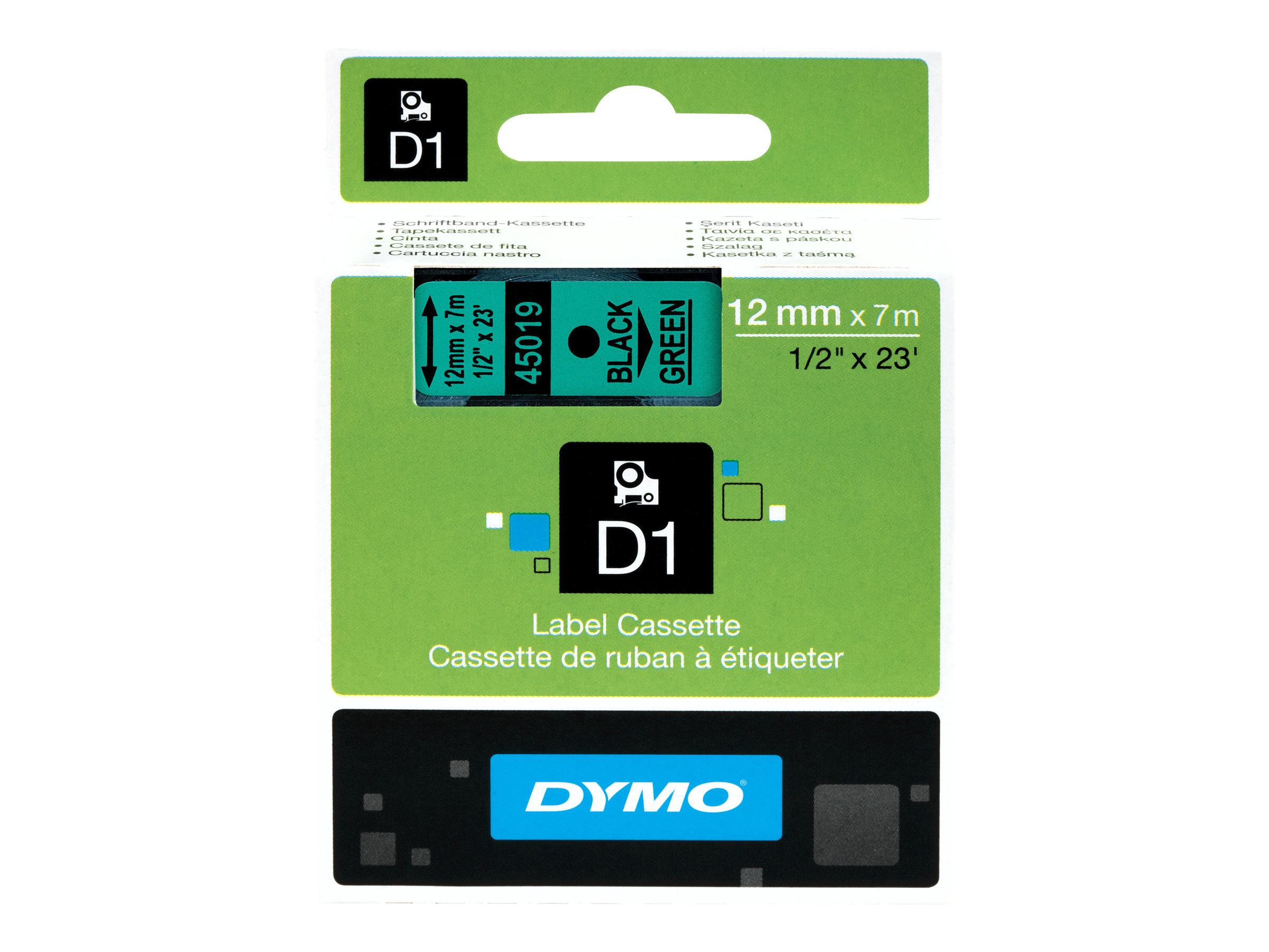 Dymo d1 selbstklebend schwarz auf gruen rolle 1 2 cm x 7 m 1 rolle n etikettenband fuer labelmanager 100 160 210 220 260 280 300 360 420 wireless pnp labelpoint 250 313571 s0720590