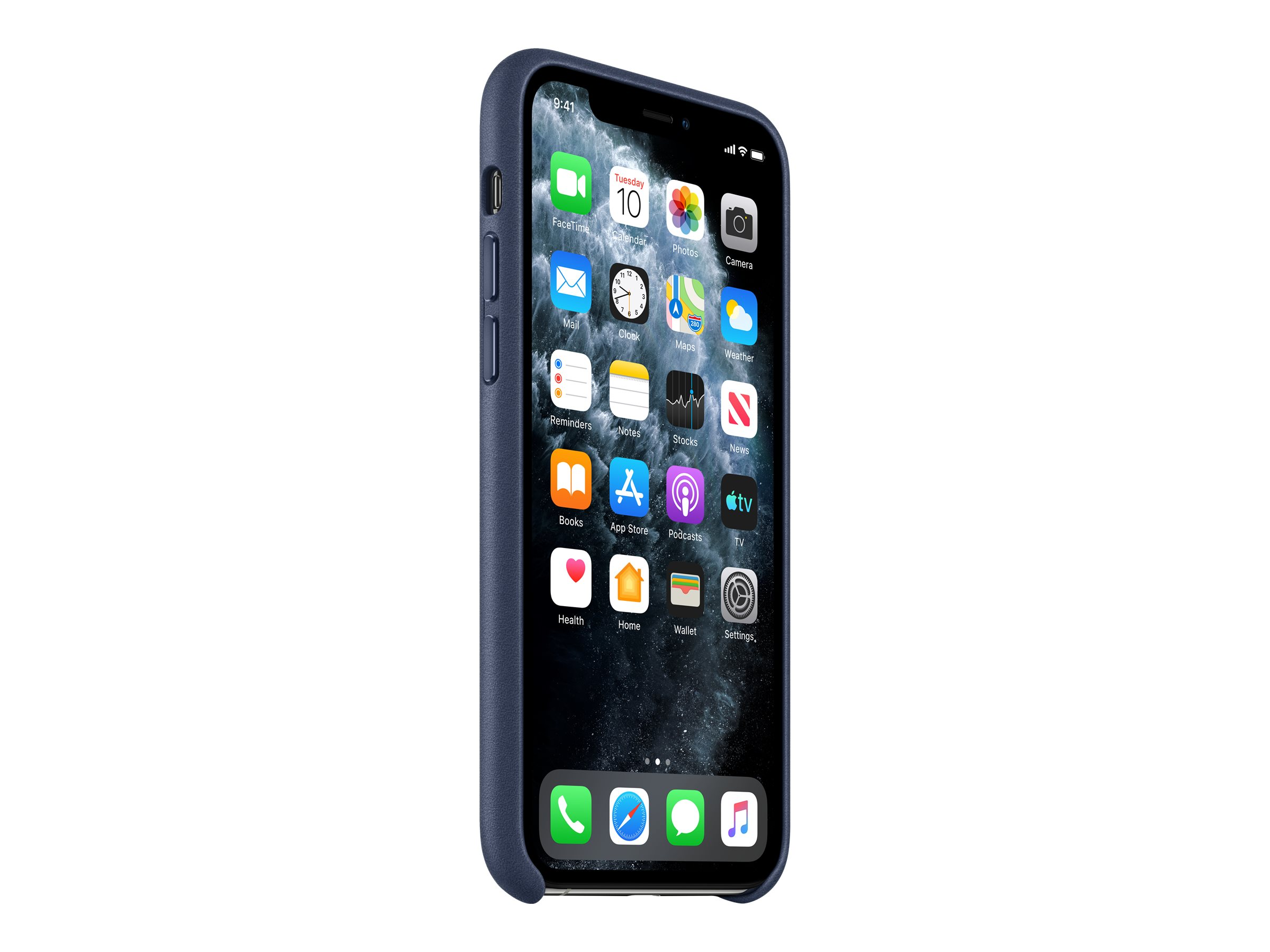Hintere abdeckung fuer mobiltelefon leder mitternachtsblau fuer iphone 11 pro 11867115 mwyg2zm a