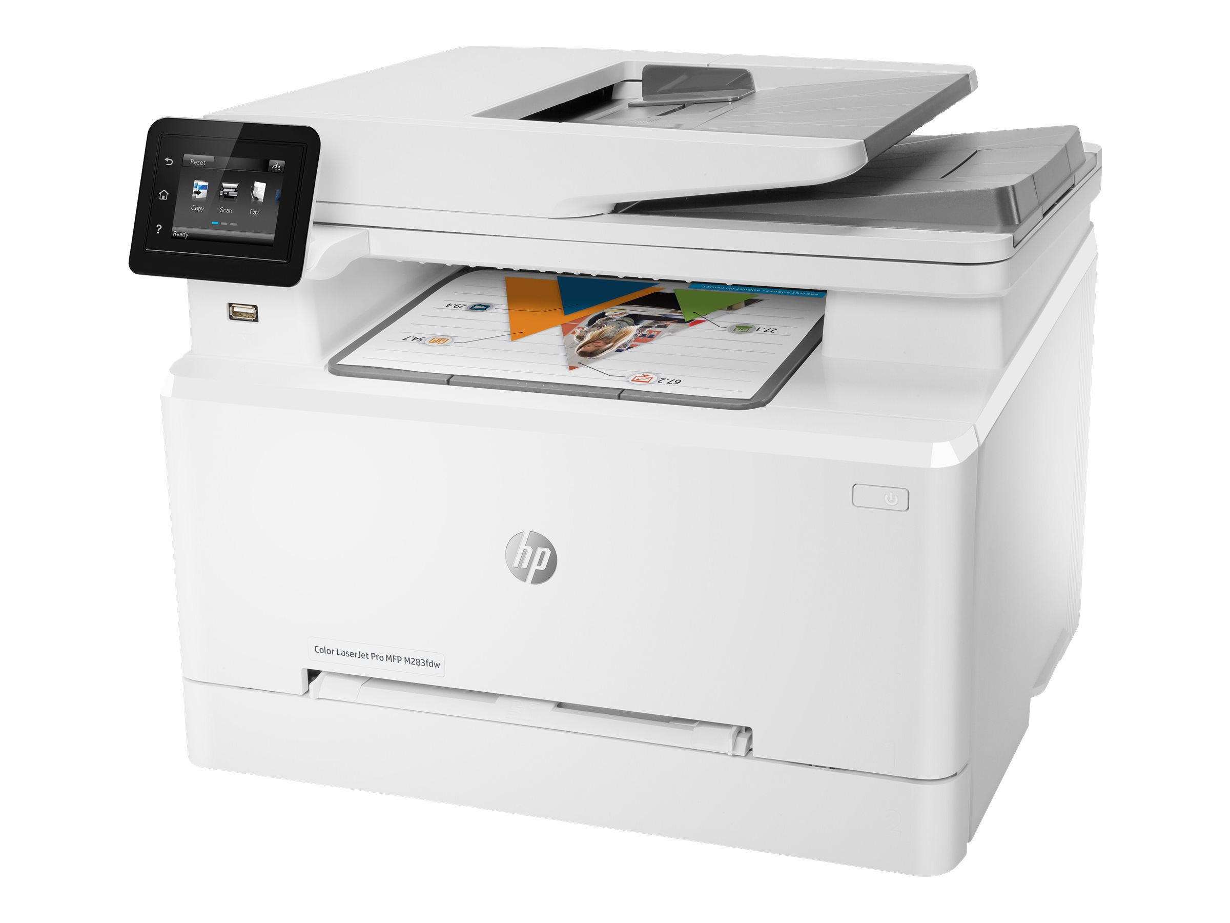 Hp color laserjet pro mfp m283fdw multifunktionsdrucker farbe laser legal 216 x 356 mm original a4 legal medien 12034432 7kw75a b19