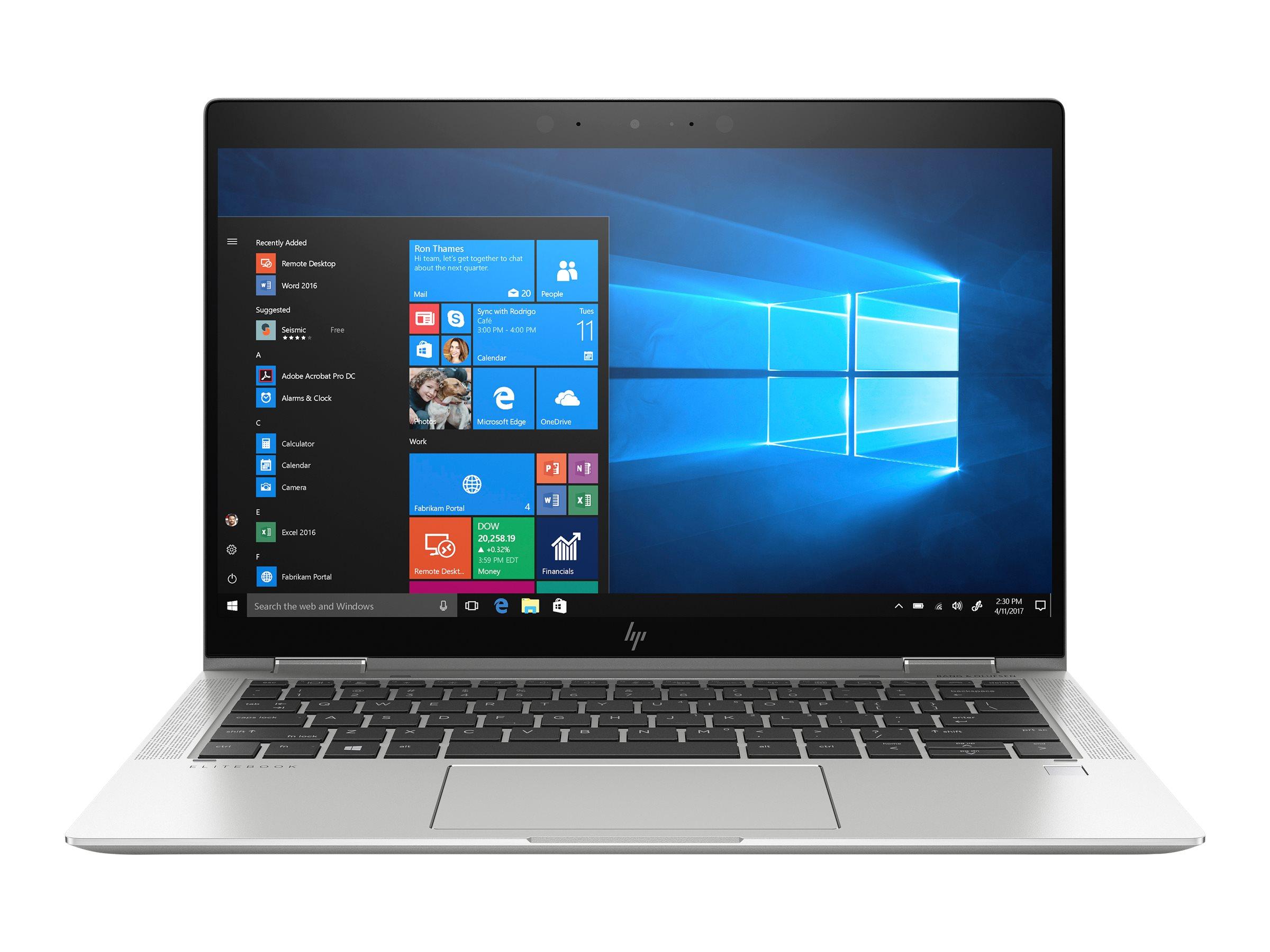 Hp elitebook x360 1030 g4 flip design core i5 8265u 1 6 ghz win 10 pro 64 bit 8 gb ram 256 gb ssd nvme 11843940 7yl45ea abd