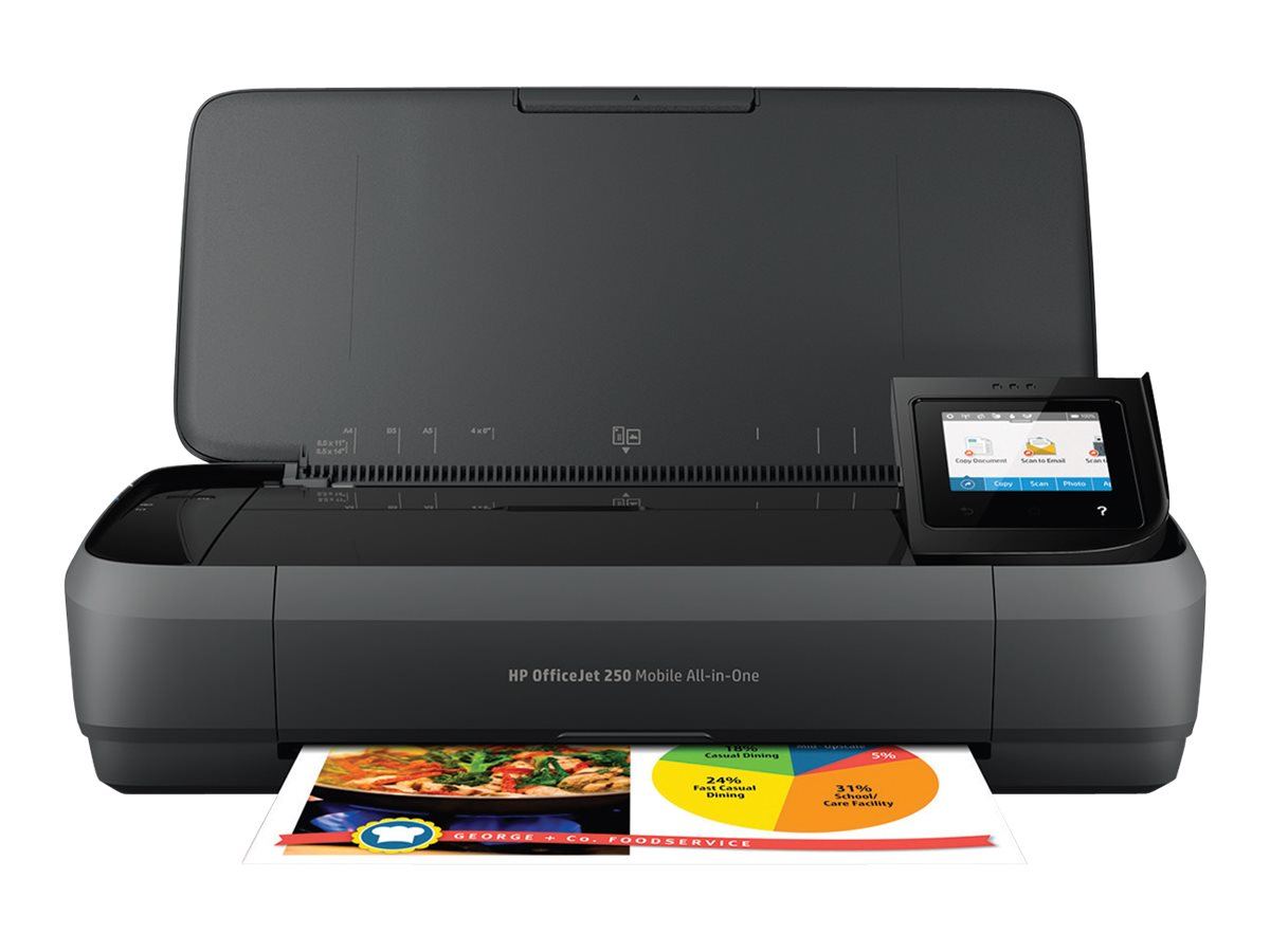 Hp officejet 250 mobile all in one multifunktionsdrucker farbe tintenstrahl legal 216 x 356 mm original a4 legal medien 6164600 cz992a bhc