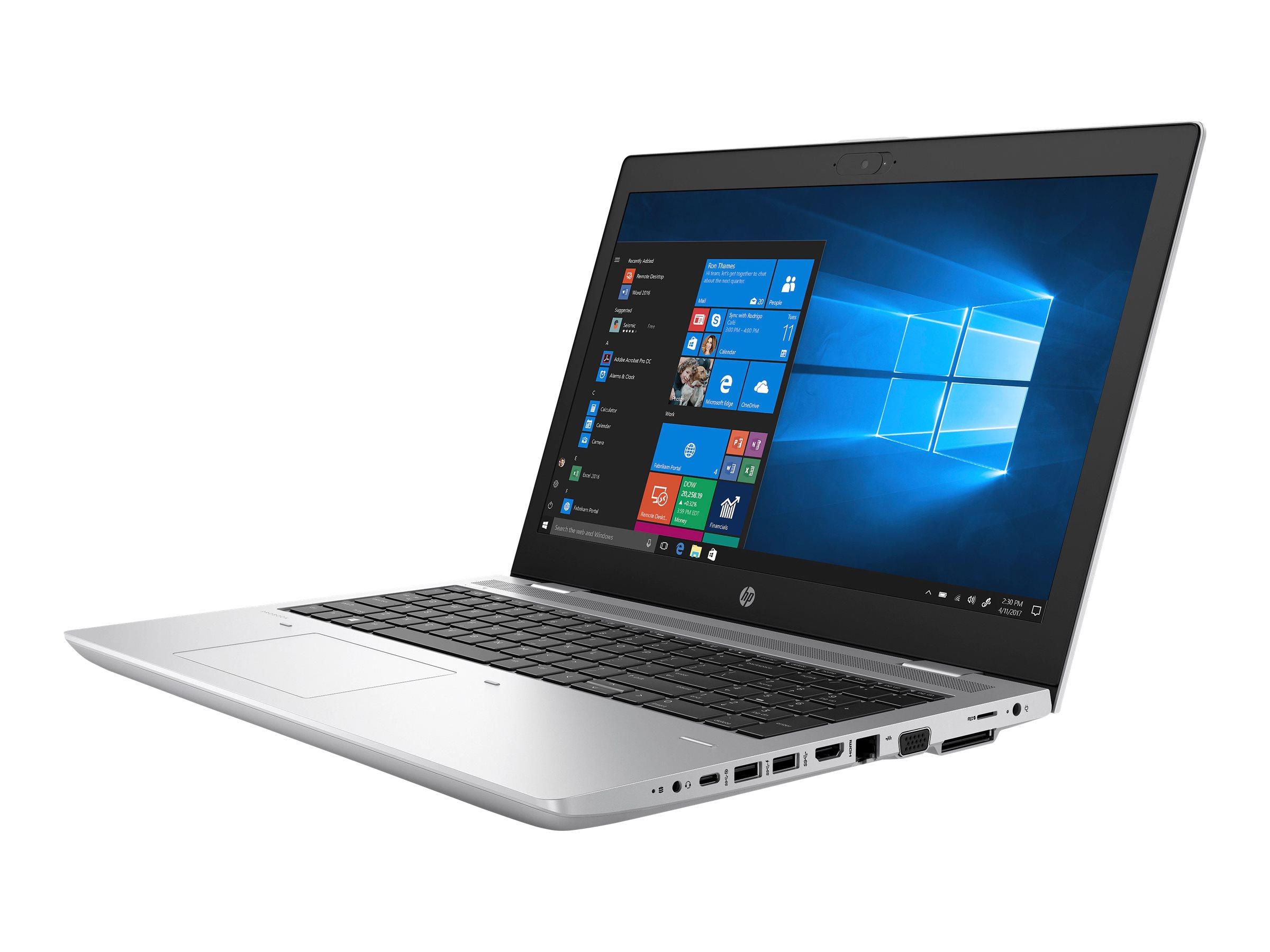 Hp probook 650 g4 core i5 8250u 1 6 ghz win 10 pro 64 bit 8 gb ram 256 gb ssd nvme tlc dvd writer 8696261 3up57ea abd