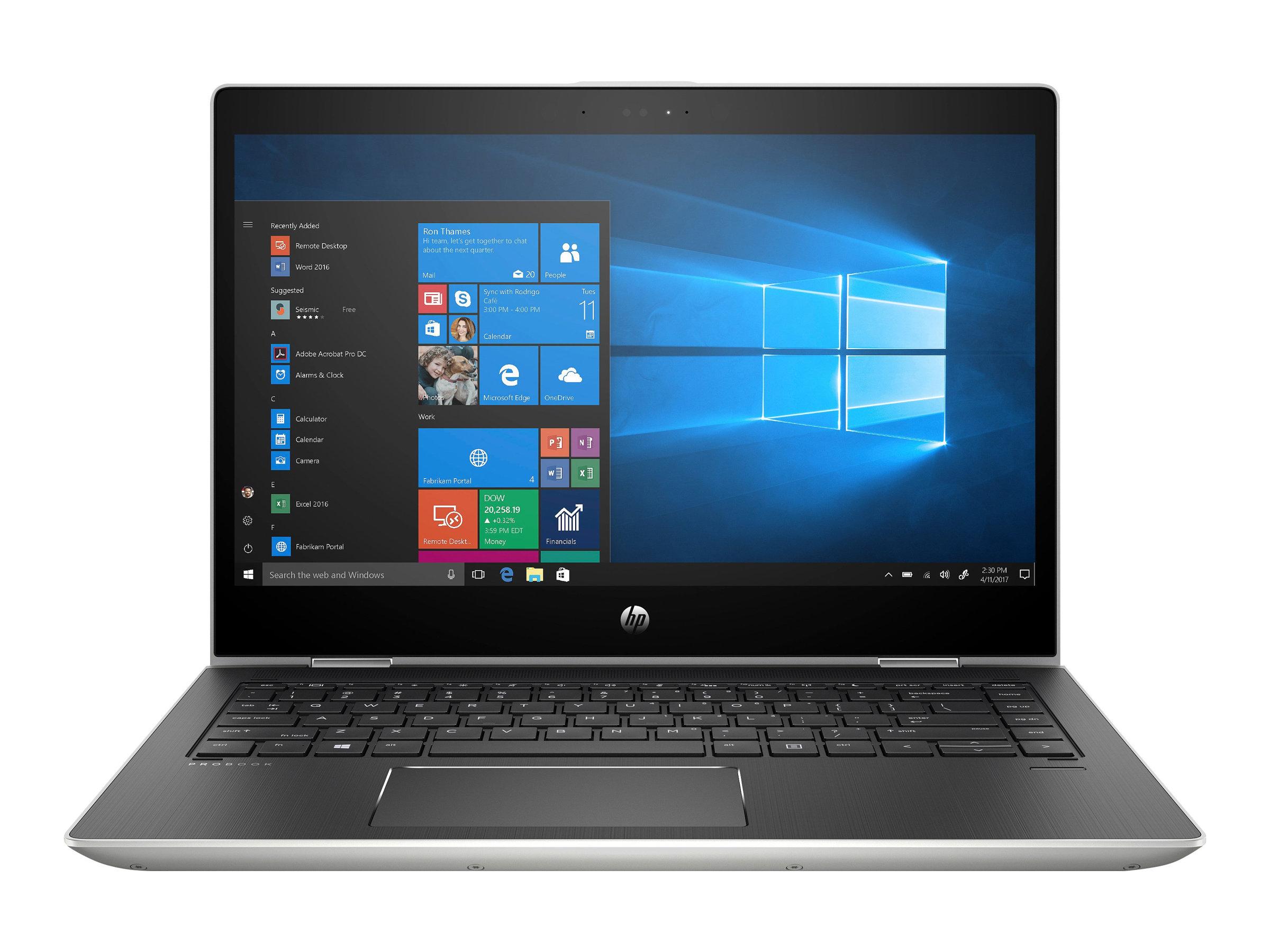 Hp probook x360 440 g1 flip design core i5 8250u 1 6 ghz win 10 pro 64 bit 16 gb ram 256 gb ssd 9249783 4qw49es abd