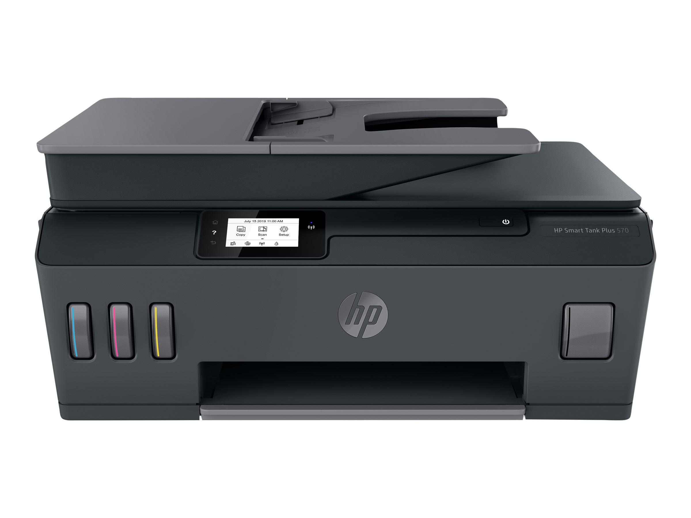 Hp smart tank plus 570 wireless all in one multifunktionsdrucker farbe tintenstrahl legal 216 x 356 mm original a4 legal medien 11997707 5hx14a bhc