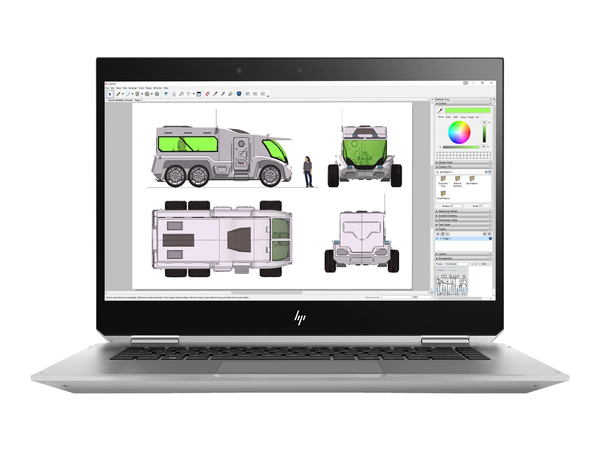 Hp zbook studio x360 g5 mobile workstation flip design core i5 8400h 2 5 ghz win 10 pro 64 bit 8 gb ram 256 gb ssd 16 gb ssd cache tlc 9038473 4qh12ea abd