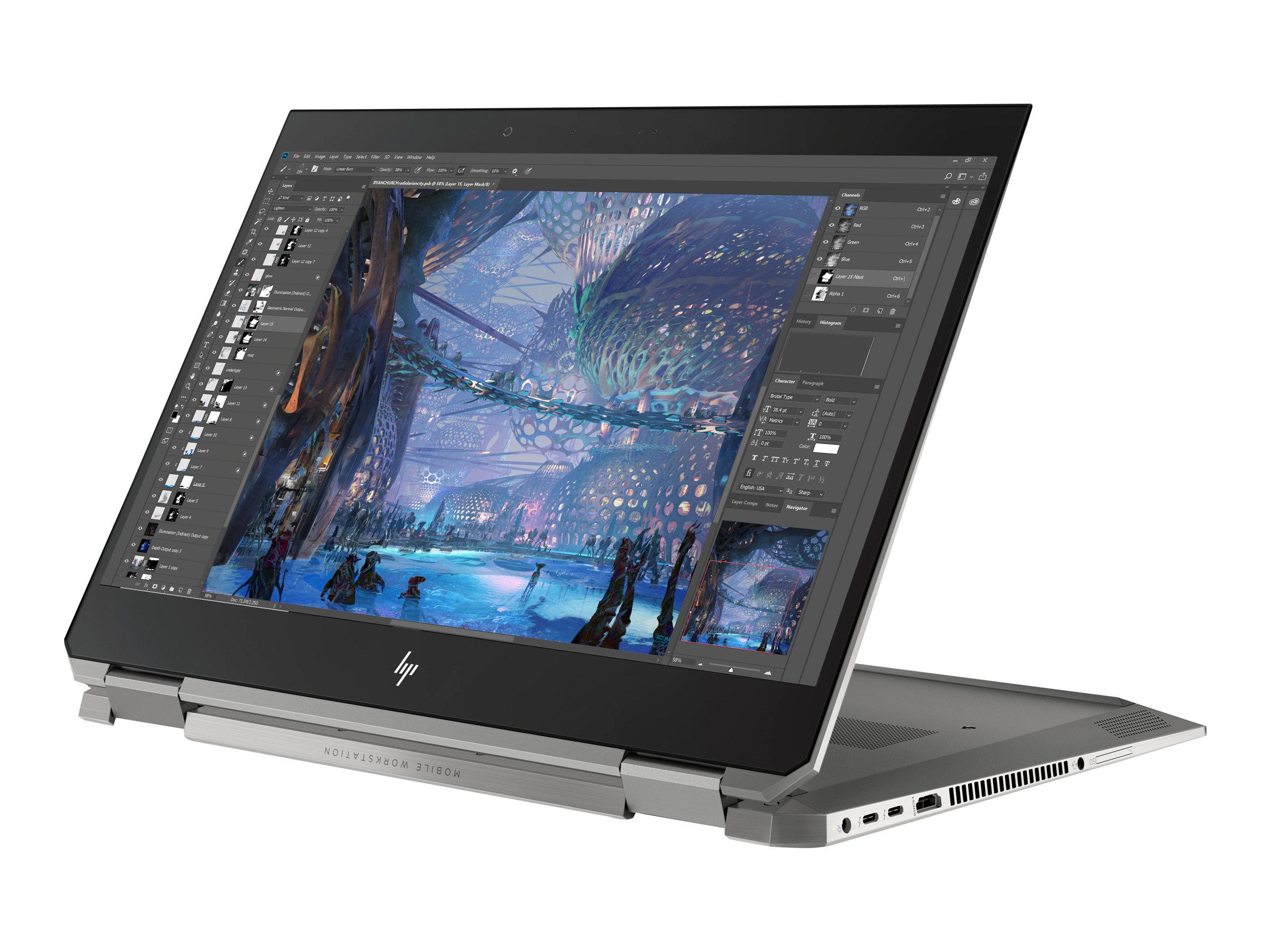 Hp zbook studio x360 g5 mobile workstation flip design core i7 9850h 2 6 ghz win 10 pro 64 bit 16 gb ram 512 gb ssd nvme 11919924 6tw61ea abd