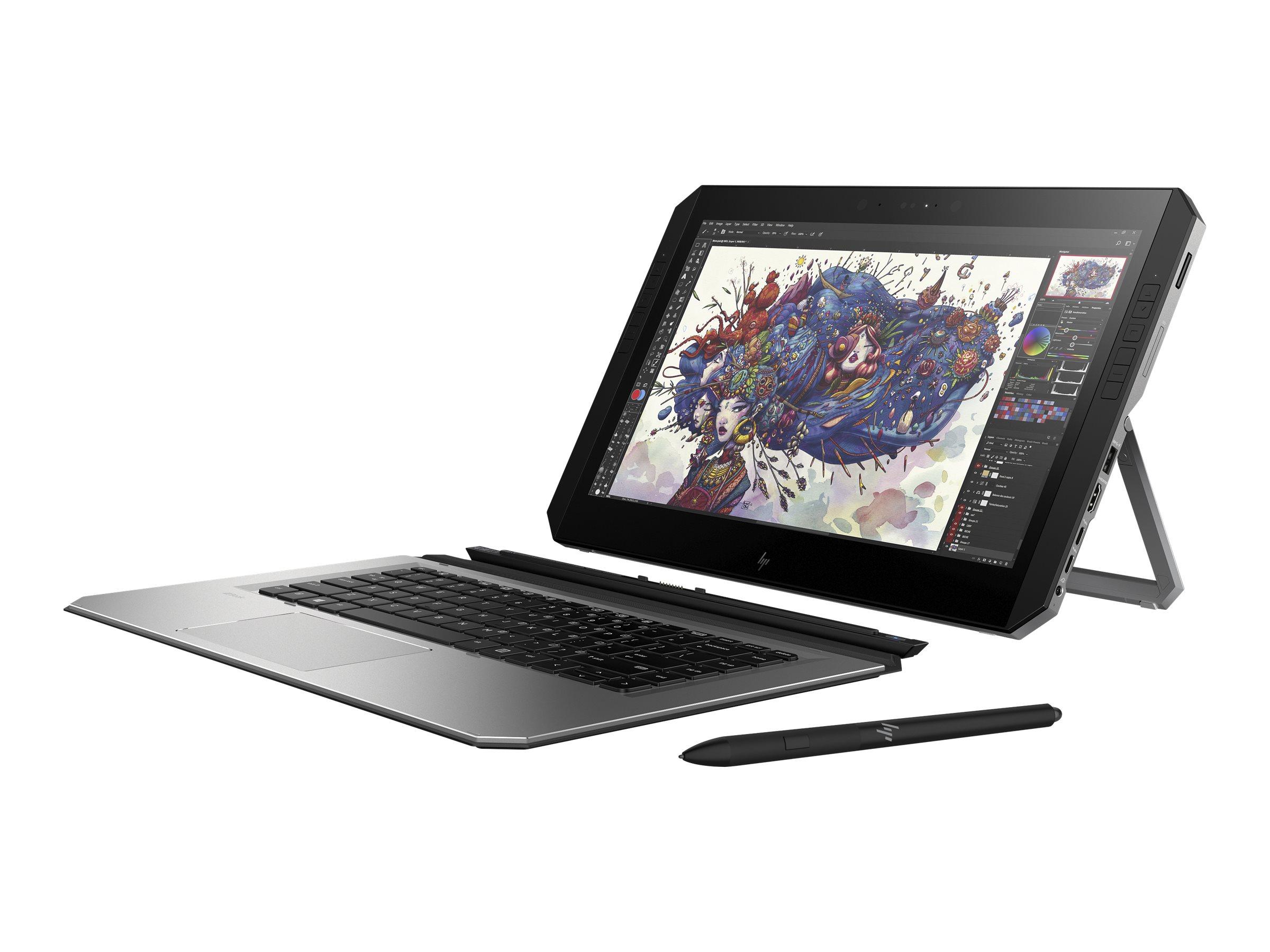Hp zbook x2 g4 detachable workstation tablet mit bluetooth tastatur core i7 8550u 1 8 ghz win 10 pro 64 bit 8 gb ram 8495058 2zc10ea abd