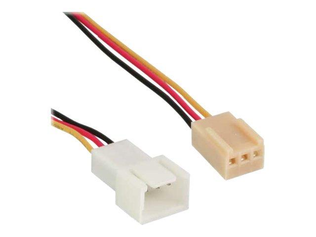 Inline verlaengerungskabel fuer luefterspannungsversorgung molex 3 polig m bis molex 3 polig w 30 cm 253549 33328