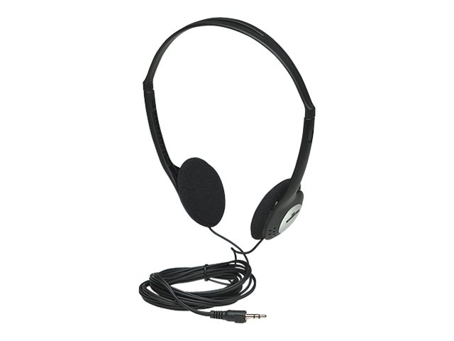 Manhattan stereo headphones kopfhoerer on ear kabelgebunden 3 5 mm stecker schwarz 1913818 177481