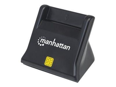 Manhattan usb a smart sim card reader 480 mbps usb 2 0 desktop standing friction type compatible hi speed usb cable 86cm black three year warranty blister smartcard leser usb 2 0 8202788 102025