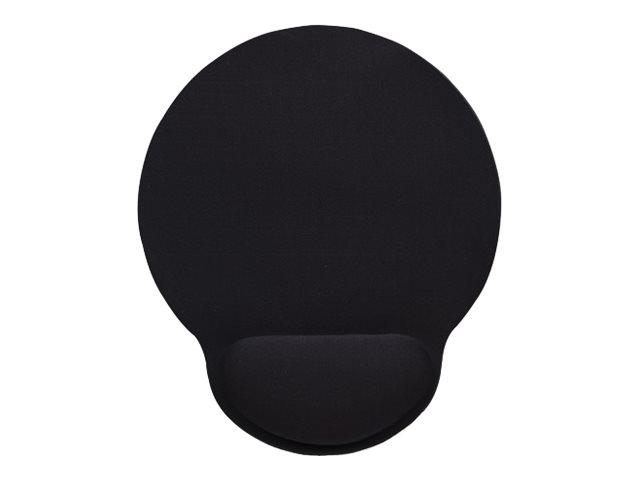 Manhattan wrist gel support pad and mouse mat black 241 a 203 a 40 mm non slip base lifetime warranty card retail packaging mauspad mit handgelenkpolsterkissen schwarz 1692386 434362