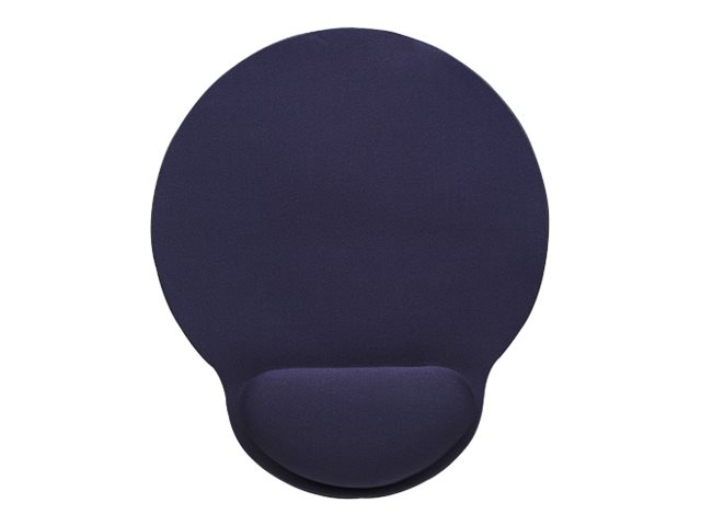 Manhattan wrist gel support pad and mouse mat blue 241 a 203 a 40 mm non slip base lifetime warranty card retail packaging mauspad mit handgelenkpolsterkissen blau 2598477 434386
