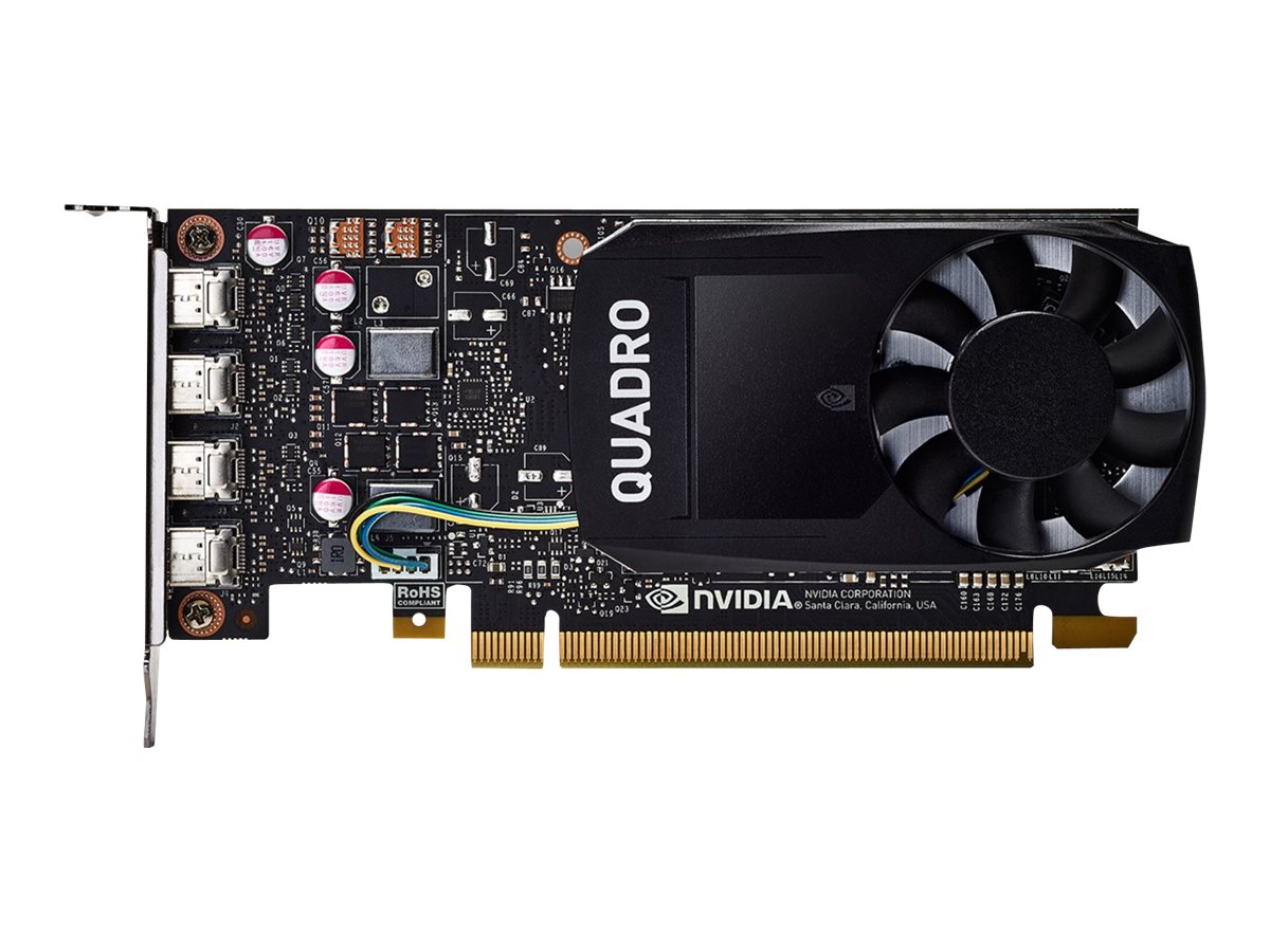 Nvidia quadro p1000 grafikkarten 1 gpus quadro p1000 4 gb gddr5 pcie 3 0 x16 7843619 1me01aa