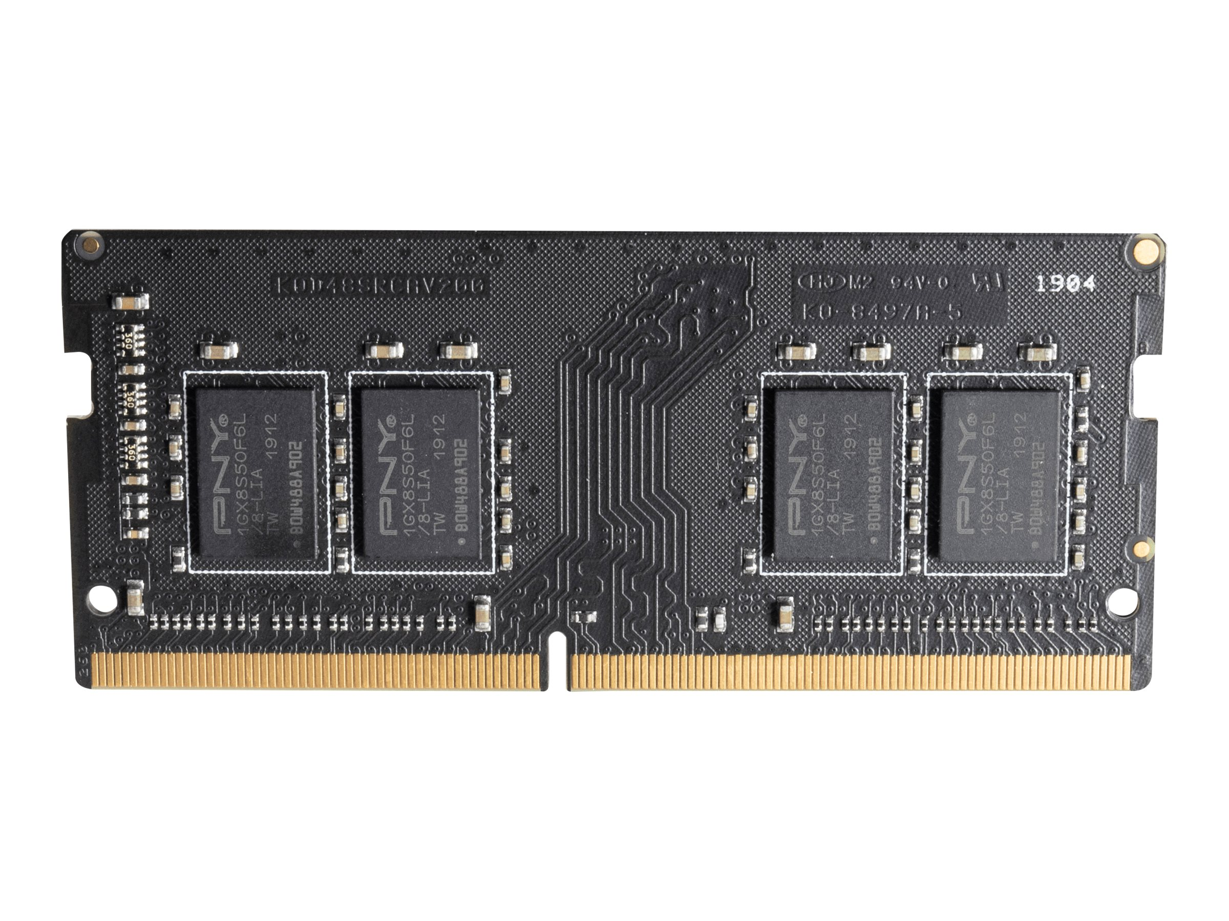 Pny ddr4 4 gb so dimm 260 pin 2666 mhz pc4 21300 cl19 12866593 mn4gsd42666