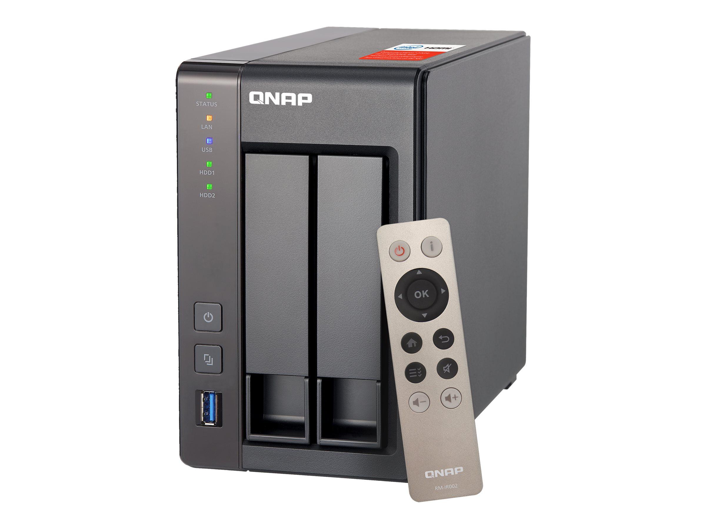 Qnap ts 251 nas server 2 schaechte 4 tb sata 6gb s hdd 2 tb x 2 6480337 ts 251 2g 2x st2000vn004