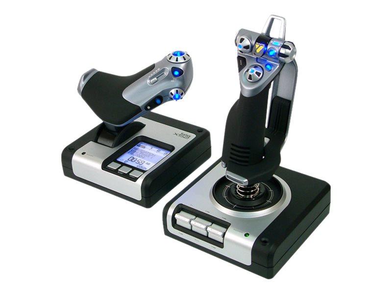 Saitek pro flight x52 flight system joystick und gasregler kabelgebunden fuer pc 6424695 945 000006