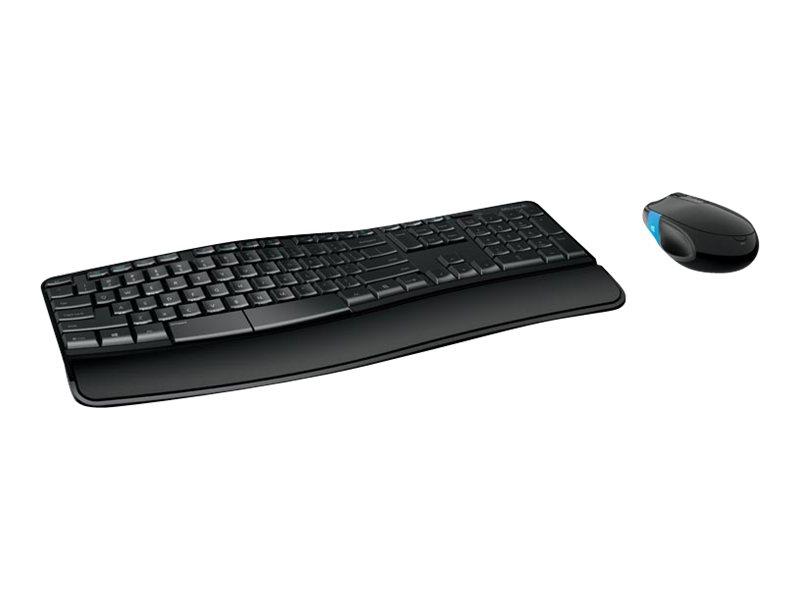 Sculpt comfort desktop tastatur und maus set kabellos 2 4 ghz deutsch 3563010 l3v 00008