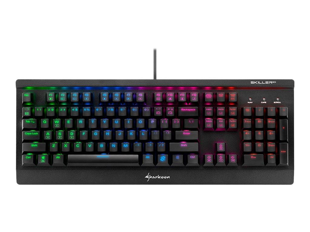 Skiller mech sgk3 tastatur backlit usb deutsch tastenschalter kailh blue 8268060 4044951019724