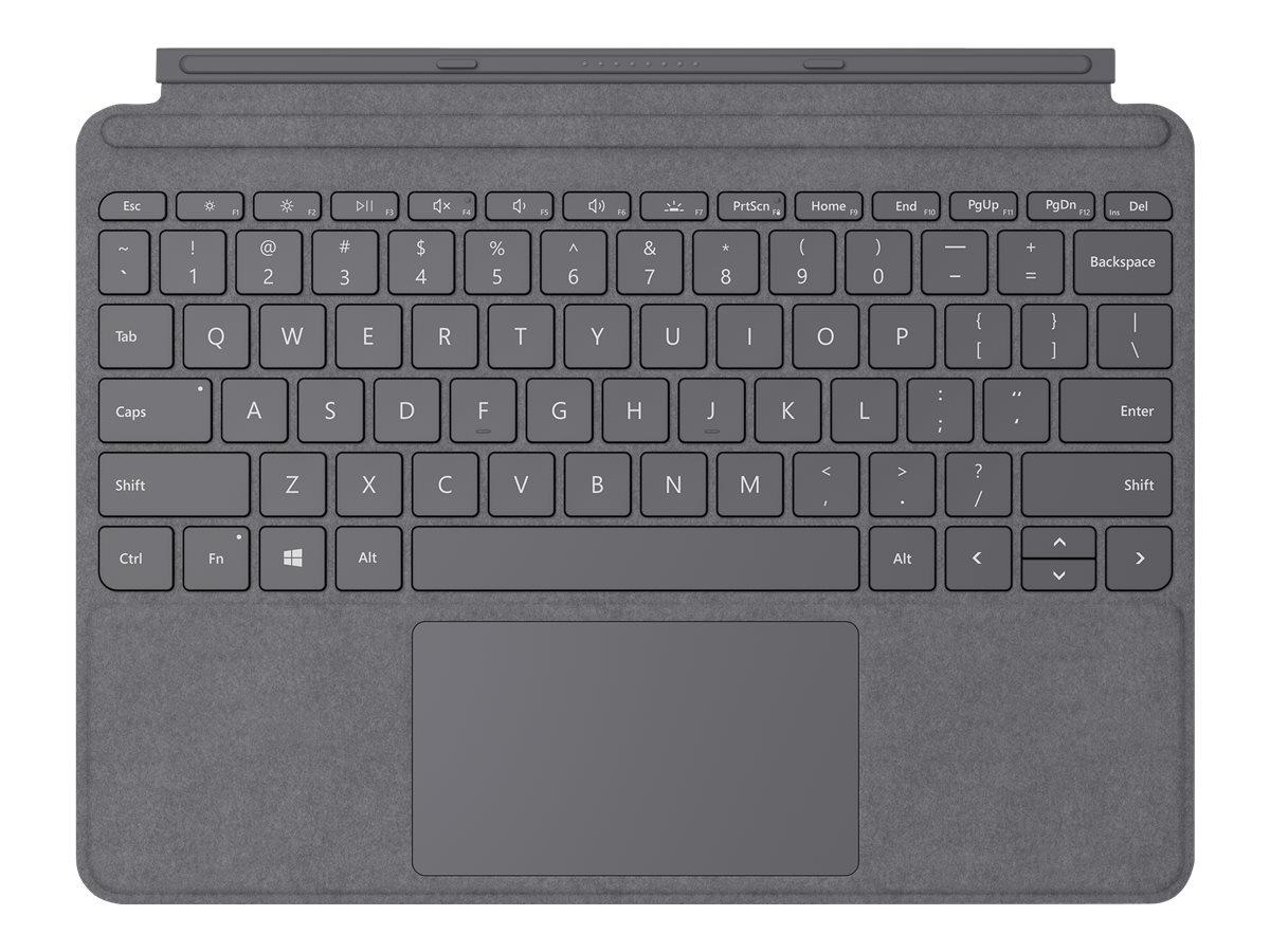 Surface go type cover tastatur mit trackpad beschleunigungsmesser hinterleuchtet deutsch platin 12933329 kcs 00130