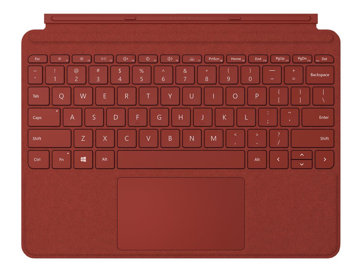 Surface go type cover tastatur mit trackpad beschleunigungsmesser hinterleuchtet deutsch poppy red 12933331 kcs 00088