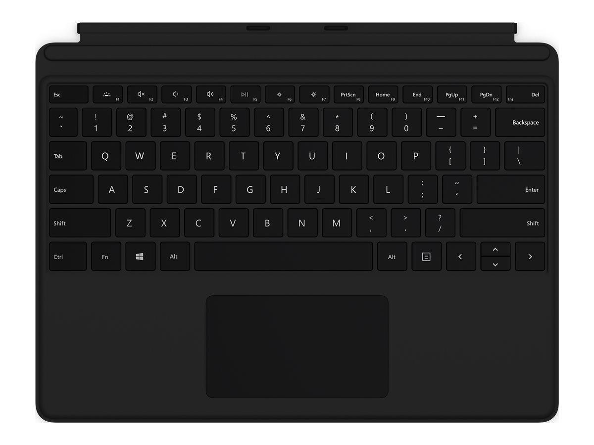 Surface pro x keyboard tastatur mit trackpad hinterleuchtet deutsch schwarz 11916848 qjw 00005