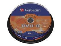 - 10 x DVD-R - 4.7 GB 16x - mattsilber - Spindel