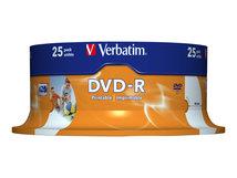 - 25 x DVD-R - 4.7 GB 16x - breite bedruckbare Fläche für Fotos - Spindel