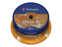 - 25 x DVD-R - 4.7 GB 16x - mattsilber - Spindel
