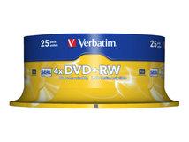 - 25 x DVD+RW - 4.7 GB 4x - mattsilber - Spindel