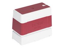 2770 - Stempel - vorgetränkt - Rot - Benutzerdefinierter Text - 27 x 70 mm (Packung mit 6)