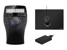 3Dconnexion SpaceMouse Enterprise Kit - 3D-Maus - 31 Tasten - kabelgebunden - USB