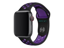 40mm Nike Sport Band - Uhrarmband - 130-200 mm - black/hyper grape - für Watch (38 mm, 40 mm)