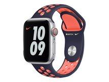 40mm Nike Sport Band - Uhrarmband für Smartwatch - Normalgröße - Blue Black/Bright Mango - für Watch (38 mm, 40 mm)
