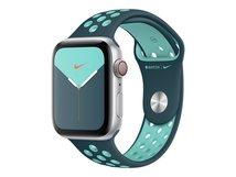 44mm Nike Sport Band - Uhrarmband für Smartwatch - Normalgröße - Aurora Green, Midnight Turquoise - für Watch (42 mm, 44 mm)