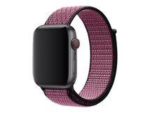 44mm Nike Sport Loop - Uhrarmband - Regulär (für Handgelenke 145 - 220 mm) - Pink Blast/True Berry - für Watch (42 mm, 44 mm)