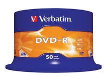 - 50 x DVD-R - 4.7 GB 16x - mattsilber - Spindel