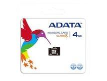 ADATA - Flash-Speicherkarte (microSDHC/SD-Adapter inbegriffen) - 4 GB - Class 4 - microSDHC