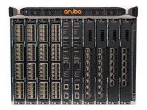 Aruba 8400 8-slot Chassis - Switch - 32 x 10 Gigabit Ethernet + 6 x 40 Gigabit / 100 Gigabit QSFP28 - an Rack montierbar - mit 2x 8400X FabricModules, 1x Management Module, 1x 32-port 10G Module, 1x 6-port 40/100G Module