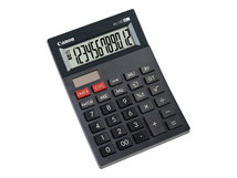 AS-120 - Desktop-Taschenrechner - 12 Stellen - Solarpanel, Batterie - Dunkelgrau
