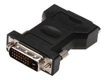 ASSMANN - DVI-Adapter - Dual Link - DVI-D (M) bis DVI-I (W) - geformt, Daumenschrauben - Schwarz