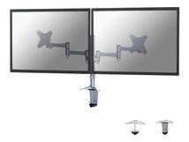 """by Newstar FPMA-D1330D - Befestigungskit - für 2 LCD-Displays (full-motion) - Silber - Bildschirmgröße: 25.4-69 cm (10""""-27"""") - Klemmmontage, Tülle, Tischmontage"""