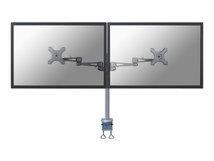 """by Newstar FPMA-D935D - Befestigungskit - für 2 LCD-Displays (full-motion) - Silber - Bildschirmgröße: 25.4-68.6 cm (10""""-27"""") - Klemmmontage, Tischmontage"""
